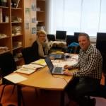 Berufseinstiegsbegleiterin Frau Schauer und Berufsberater Herr Becker